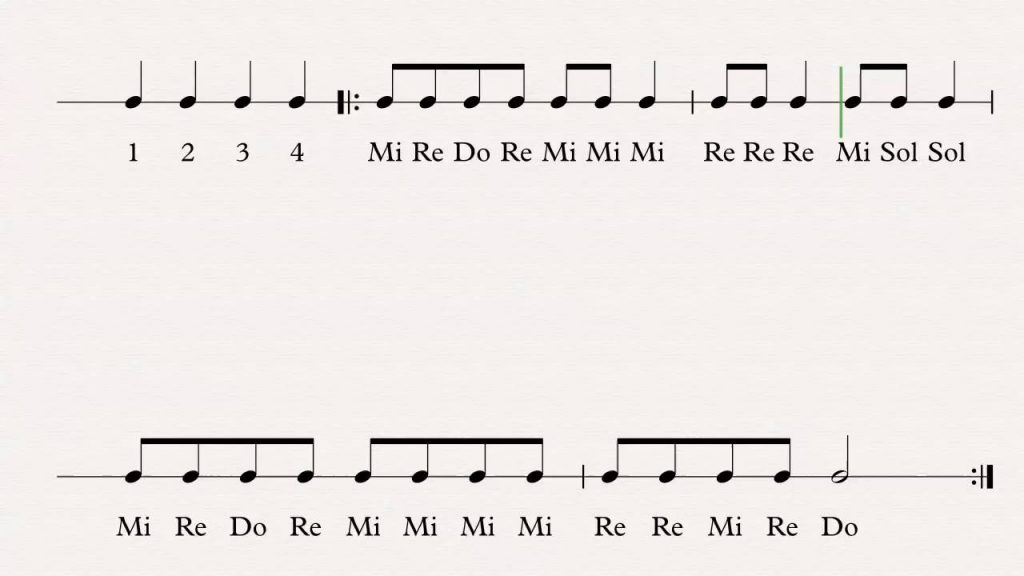 MARY HAD A LITTLE LAMB SOLFEGE